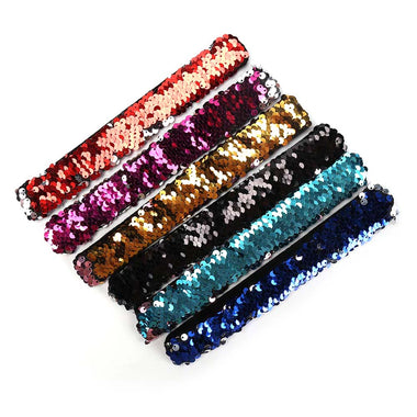 Two-tone fish scale sequins bracelet