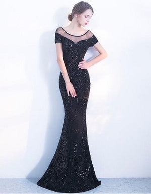 Backless Long Evening Dress
