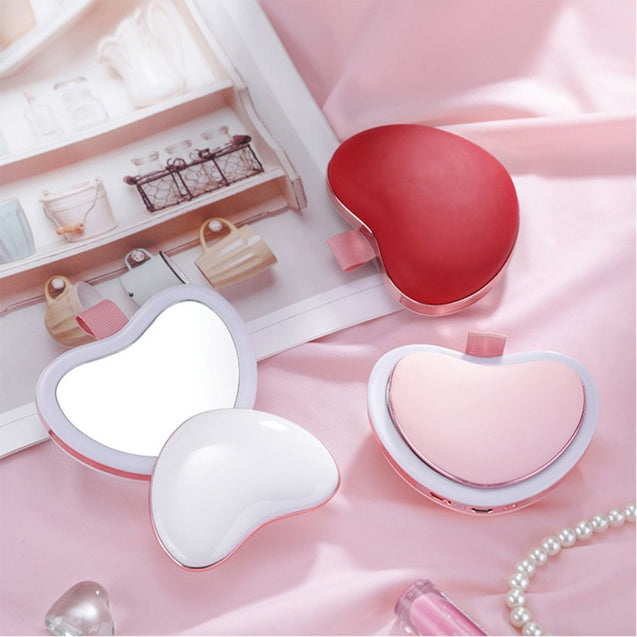 USB Hot Handwarmer + Mirror