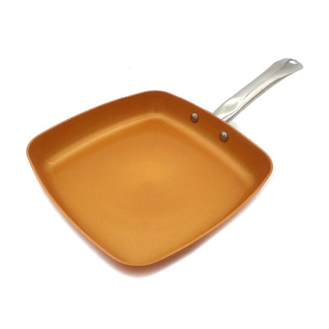 Gotham Steel 10-Inch Deep Square Copper Frying Pan