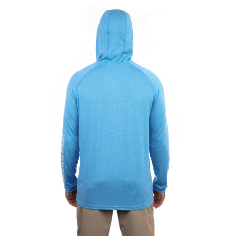 AFTCO SAMURAI HEATHERED LS HOODED T-SHIRT