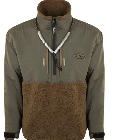 DRAKE MST Guardian Flex™ Sherpa Fleece Eqwader™ 1/4 Zip