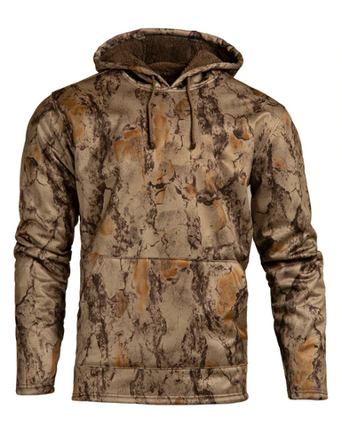 NATURAL GEAR CORAL FLEECE-LINED HOODIE