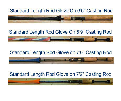 Rod Glove Standard Casting Red
