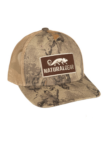 NATURAL GEAR MESH BACK TRUCKER CAP