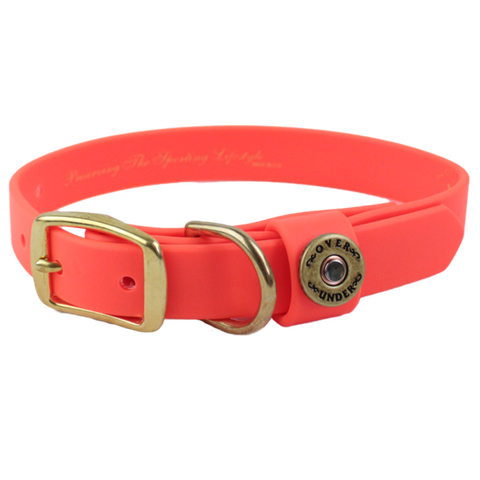 Over Under Water Dog Collar Blaze Orange