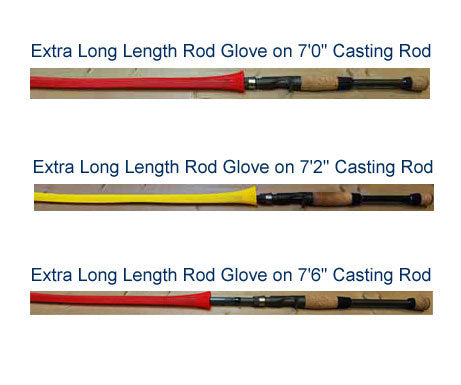 Rod Glove Extra Long Casting Red