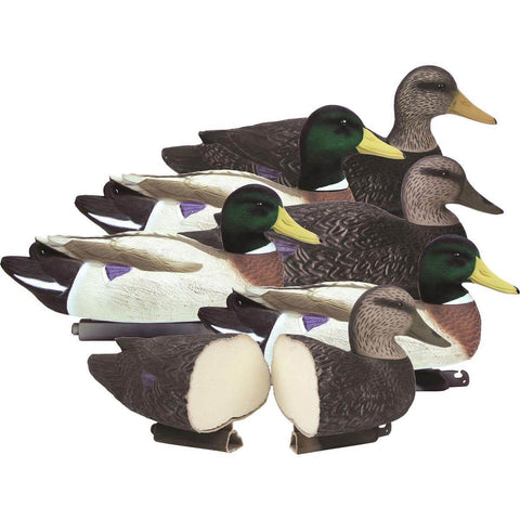 Higdon Battleship Powers' Pack, Foam Filled, 3 Mallard Drakes Flocked Heads 3 Black Ducks