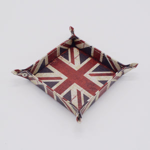 Union Jack Catchall/Change Key Wallet Coin Tray