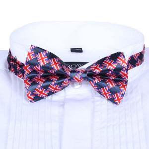 Men's Satin Union Jack Bow Tie