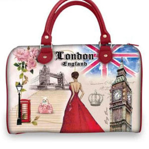 Ladies London Print Handbags