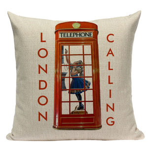 London Throw Pillow Cover