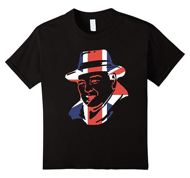 Winston Churchill Union Jack T Shirt Silhouette