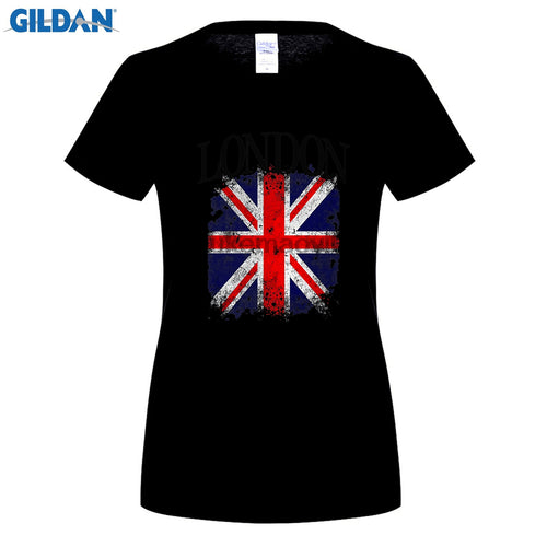 Union Jack/London Ladies T Shirt