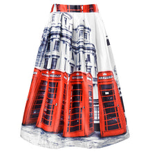 Ladies London Phone Booth/Bus Skirt