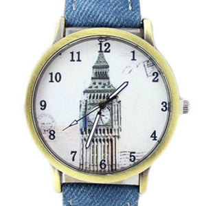 London Clock Tower Casual Bronze Watch