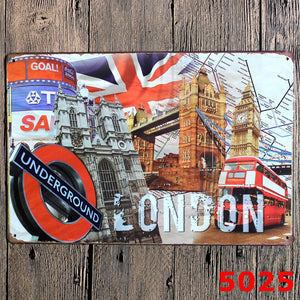 London Metal Sign