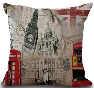 London Union Jack Building Pillow Cover
