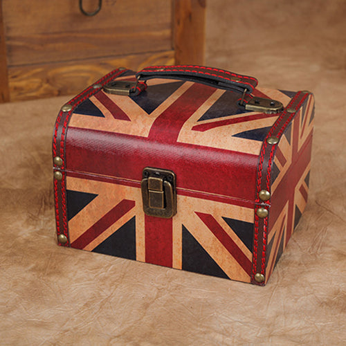 Union Jack Retro Vintage Antique Wooden Box