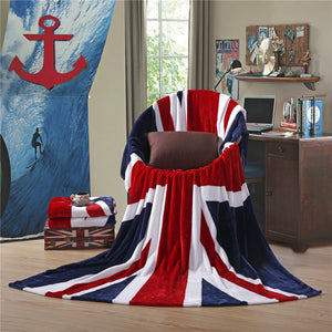 Union Jack Coral Fleece Blanket