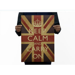 Union Jack Keep Calm Vintage Wall Sticker
