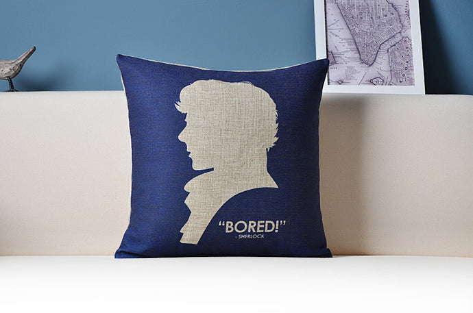 Bored Sherlock Throw Pillow Cover