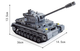 1193Pcs Large WW2 Military Panzer IV Tank Set - Bluejay Goods