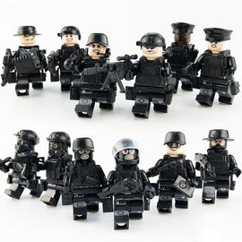 12Pcs/Set Special Forces Soldiers Minifigures with Weapons - Bluejay Goods