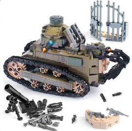 WW2 Renault FT17 Tank Military Weapon Lego Compatible Set  - 368PCS - Bluejay Goods
