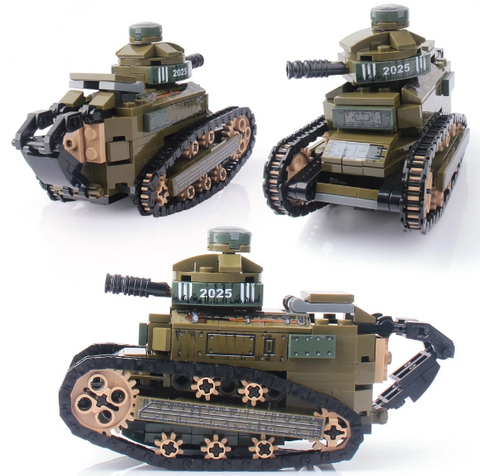 368PCS WW2 Renault FT17 Tank Toy - Bluejay Goods