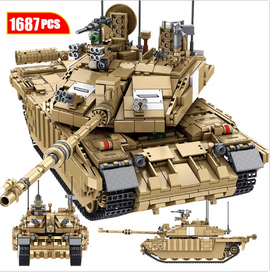 1687PCS Giant Military Main Battle Tank Brick Set - Bluejay Goods