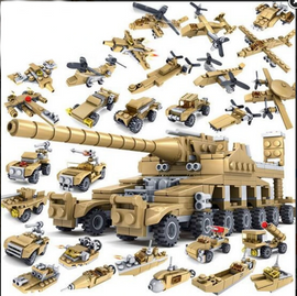 16 in 1 Military Super Tank Set Lego Compatible - 544 Pieces - Bluejay Goods