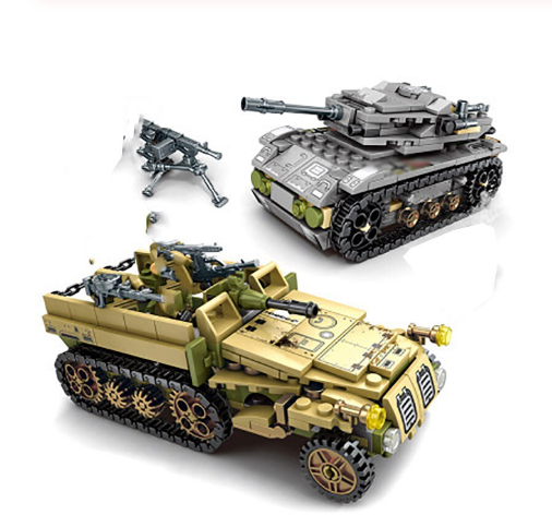 8 in 2 Military Tank Empires of Steel Technic Set - 1061PCS - Bluejay Goods
