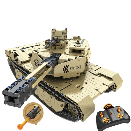 1276PCS Large Military RC M1A2 Tank Remote Control  Set - Bluejay Goods