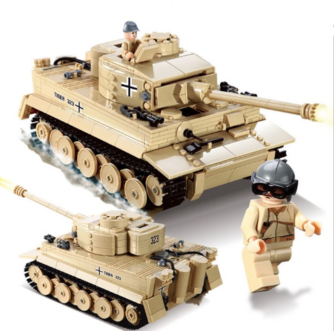 German WWII Tiger Tank Lego Compatible - Over 900 pieces - Bluejay Goods