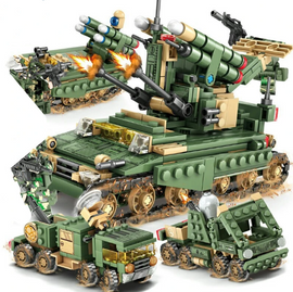 4in1 649Pcs Military Field Army Armored Car Tank Set - Bluejay Goods