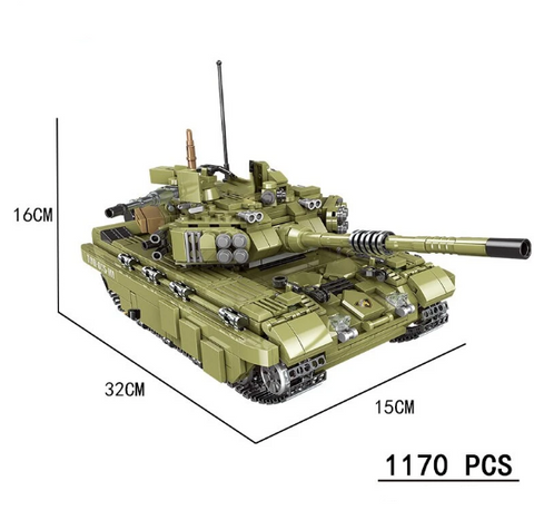1170 PCS Military Tank Building Blocks Army Toy - Bluejay Goods
