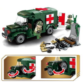 Military Ambulance - Lego Compatible Set - 262 Pcs - Bluejay Goods