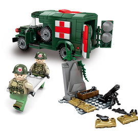 262PCS Military Ambulance Lego Compatible Set - Bluejay Goods
