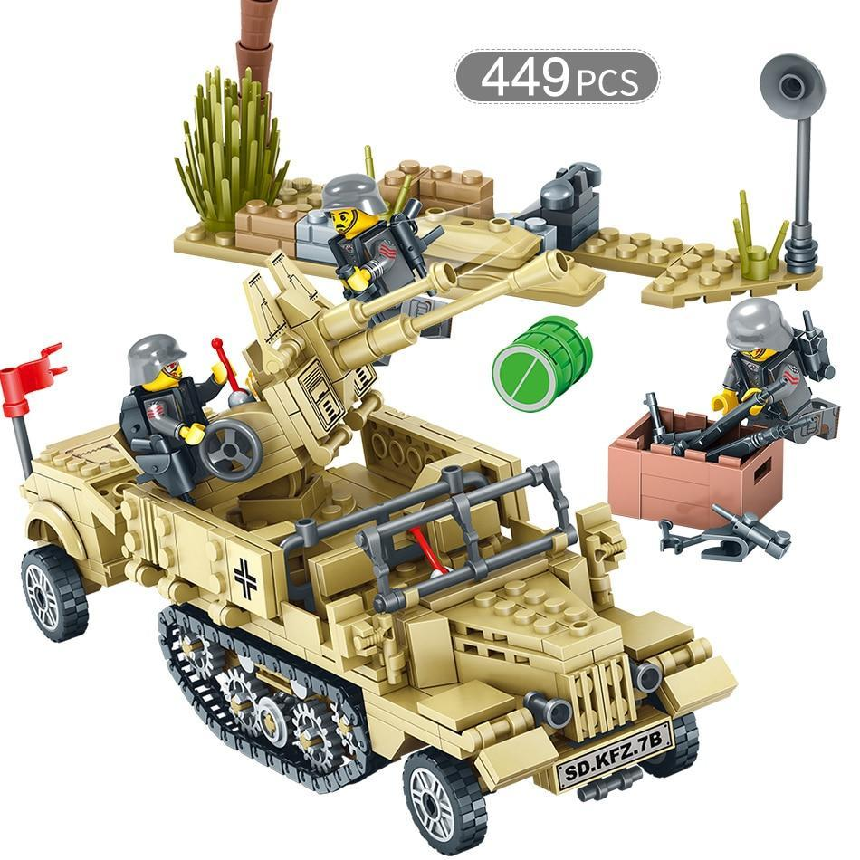 WWII Battle Vehicle Collection Brick Toy Sets - Over 400 Pieces