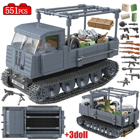 551PCS Military German Tractor Tank Set - Bluejay Goods