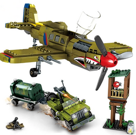 649pcs WW2 US Army Airplane Toy - Bluejay Goods