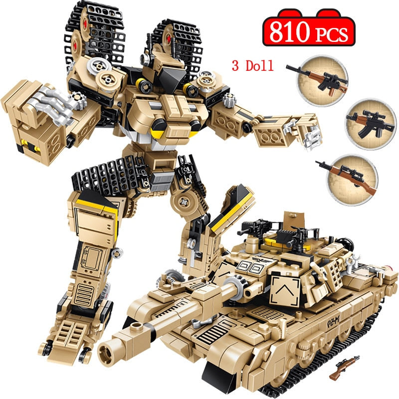 810 Pcs WW2 Deformation Robot Lego Compatible Set - Bluejay Goods