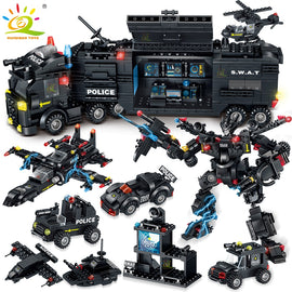 820PCS SWAT Police Team Model Bricks Toys - Bluejay Goods