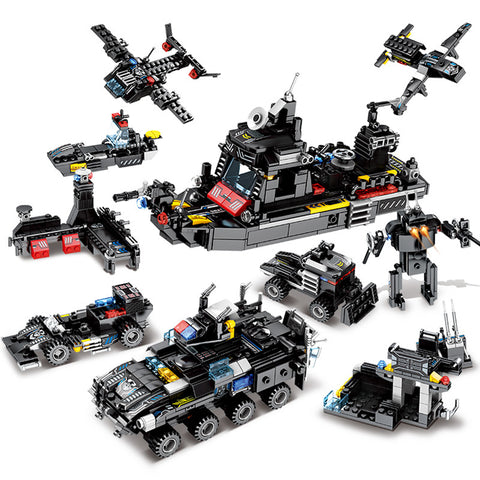 City Police SWAT Truck Lego Compatible - 695Pcs - Bluejay Goods