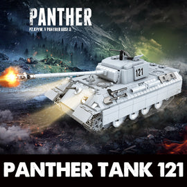 990PCS Large WW2 Military Panther Tank Set - Bluejay Goods