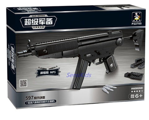 597PCS Arms Heckler & Koch MP5 Submachine Toy Gun - Bluejay Goods