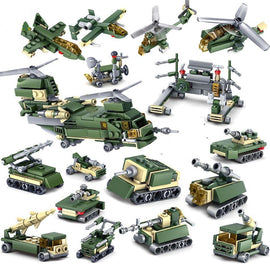16 in 1 Military Vehicle 401 Pieces - Bluejay Goods