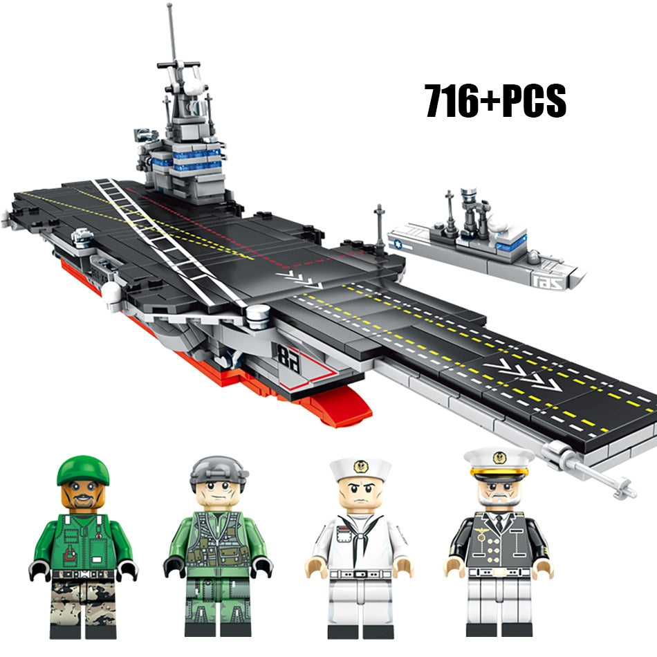 Aircraft Carrier Set Lego Compatible 716 Pieces – Bluejay Goods