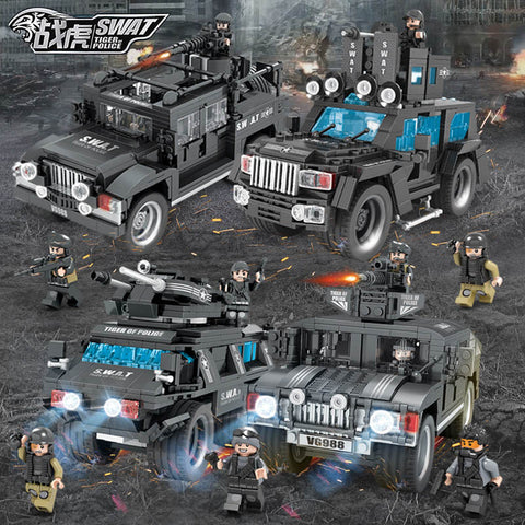 SWAT Police Truck Lego Compatible 539 Pieces - Bluejay Goods